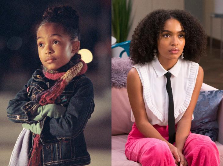 Actores jóvenes de la Generación Z antes y después; Yara Shahidi, Mi papá y nuestro mundo fantástico, Grown-ish