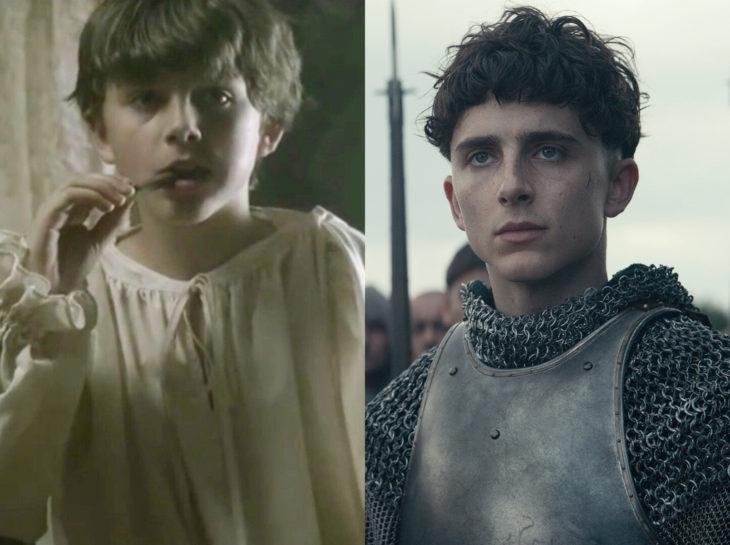 Actores jóvenes de la Generación Z antes y después; Timothée Chalamet, Sweet Thooth, El Rey