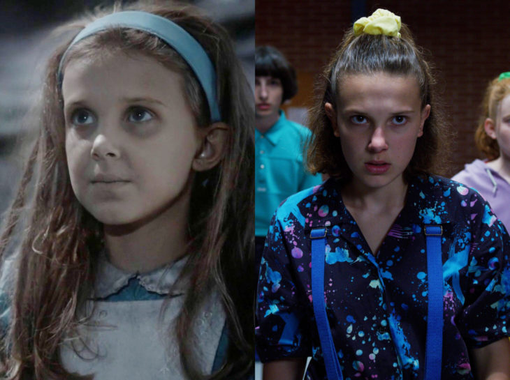 Actores jóvenes de la Generación Z antes y después; Millie Bobbie Brown, Érase una vez el País de las Maravillas, Stranger Things, Once