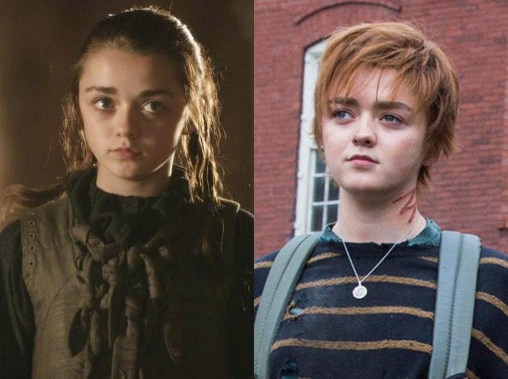Actores jóvenes de la Generación Z antes y después; Maisie Williams, Arya, Los nuevos mutantes