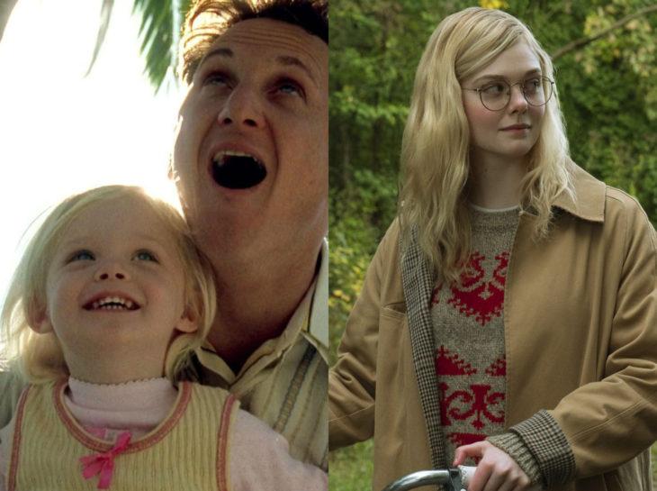 Actores jóvenes de la Generación Z antes y después; Elle Fanning, Yo soy Sam, Violet y Finch