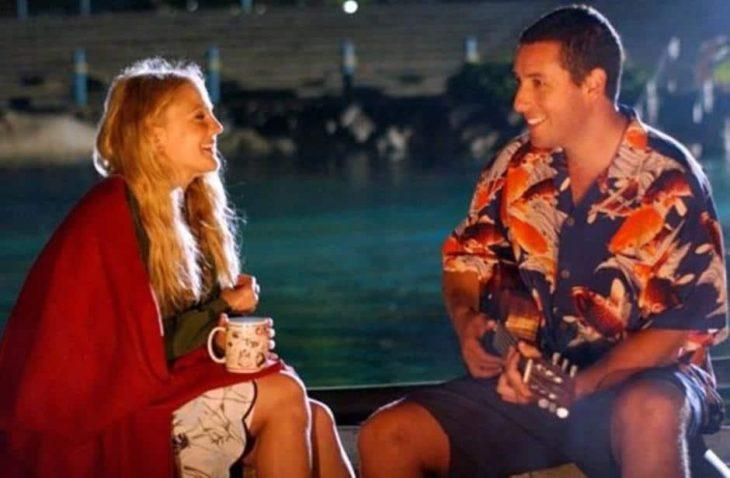 Escena de la película Como si fuera la primera vez en la que participan Adam Sandler y Drew Barrymore