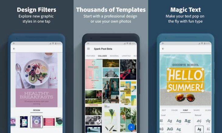 Adobe Spark Post aplicación para edición de stories en Instagram