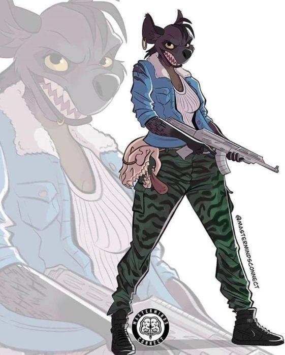 Ilustración de Master Minds Connect en la versión adolescente de El rey León, Shenzi
