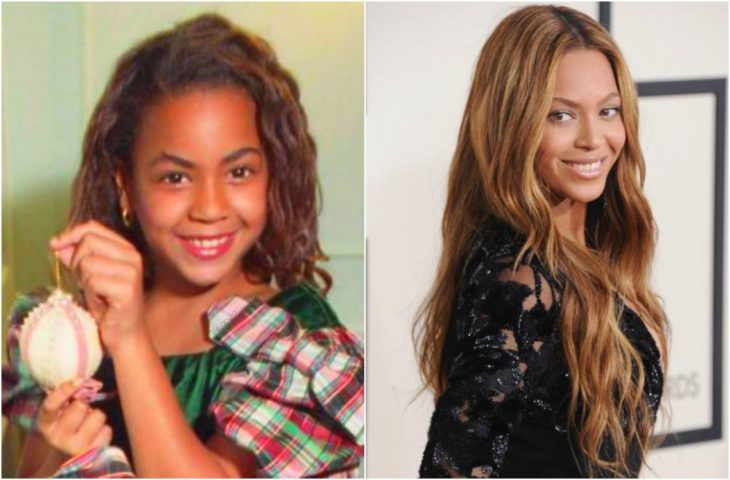 Beyoncé de niña y en la actualidad