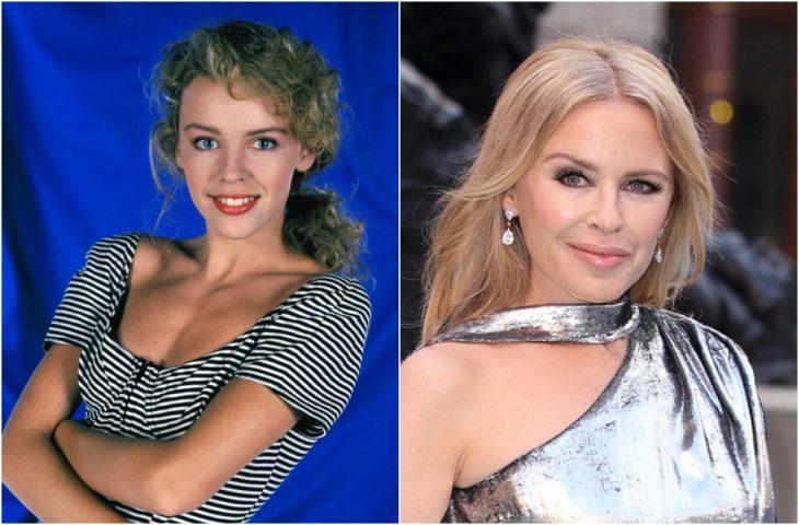 Kylie Minogue de joven y en la actualidad