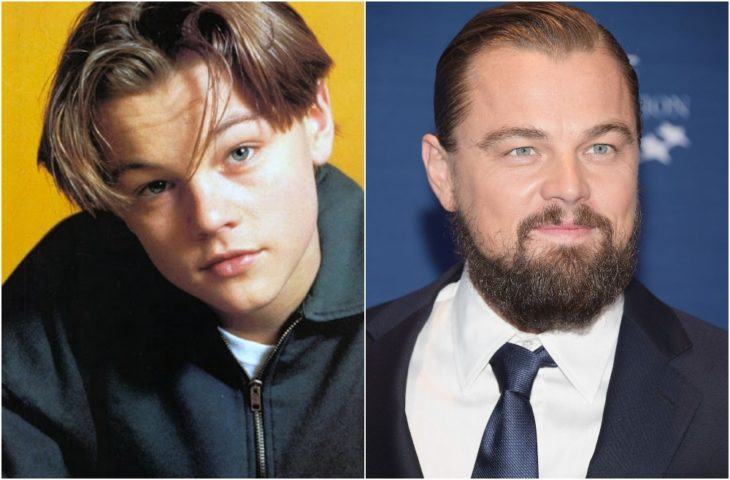 Leonardo DiCaprio de joven y en la actualidad con barba
