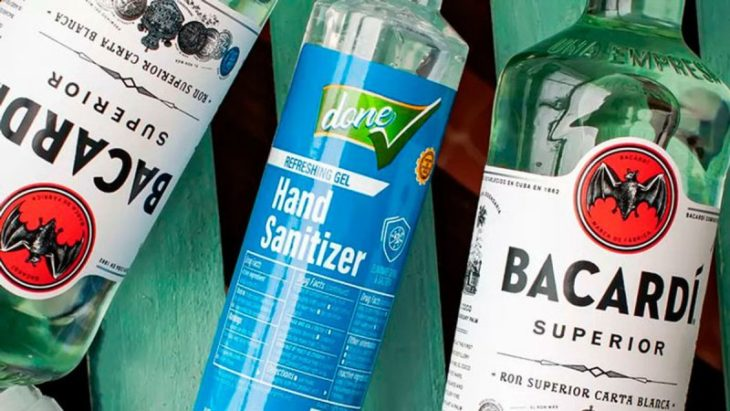 Bacardi comienza a crear gel antibacterial