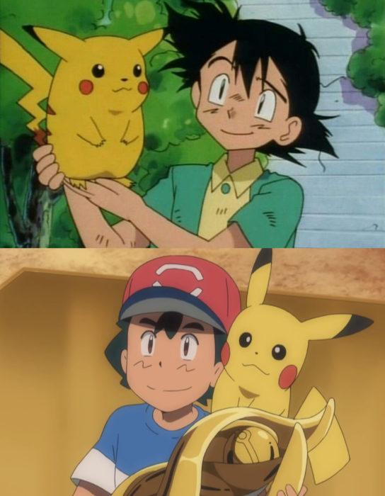 Caricaturas antes y después; Pokémon