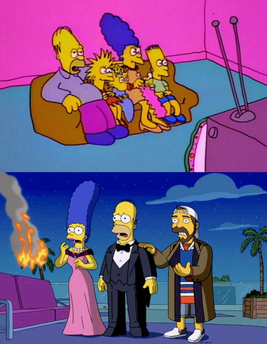 Caricaturas antes y después; Los Simpson