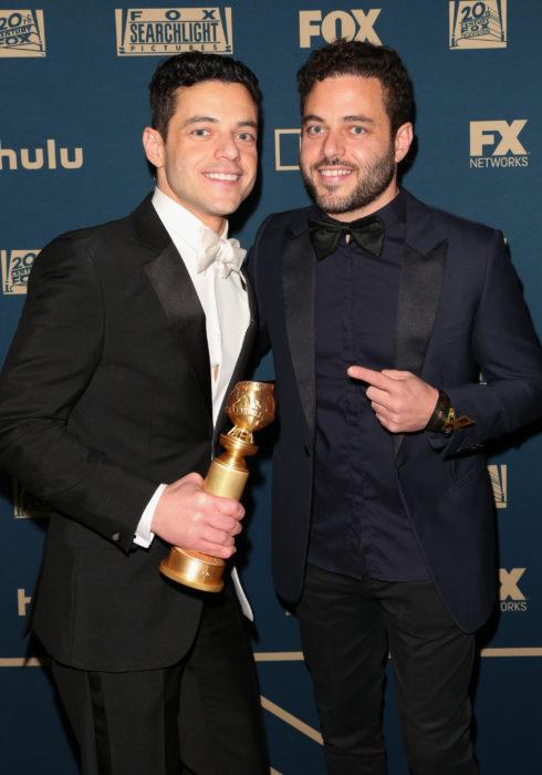 Rami y Sami Malek en la entrega de los premios Bafta de 2019