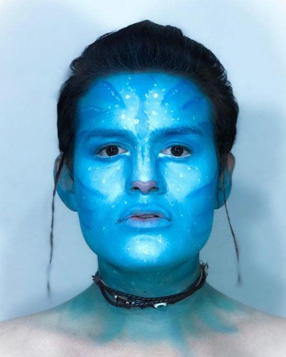 Usiel Guillermo, chico mexicano que se parece a Shrek humano; cosplay de Avatar