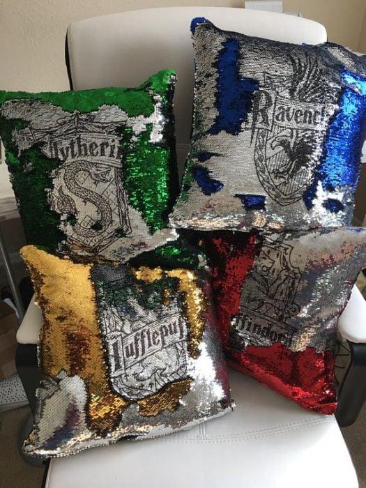 Cojines para la sala de las 4 casas de Harry Potter