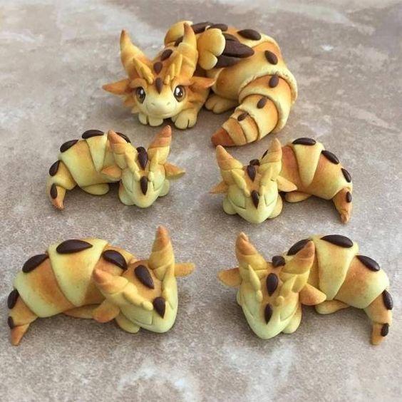 Croisants de dragones con chocolate