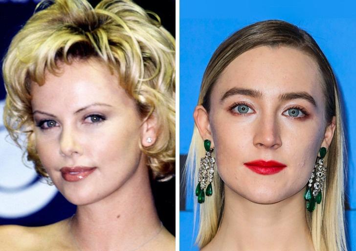 Comparación de belleza entre Saoirse Ronan y charlize theron