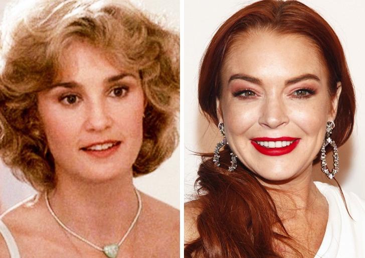 Comparación de belleza entre Lindsay lohan y jessica lange