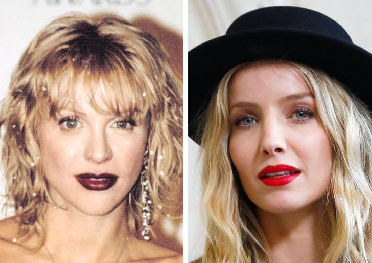 Comparación de belleza entre Courtney Love y Annabelle Wallis