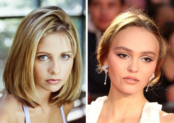 Comparación de belleza entre Michelle Gellar y Lily Rose Depp