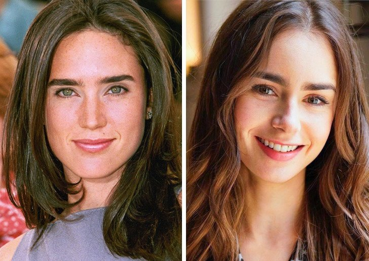 Comparación de belleza entre Jennifer Conelly y Lily Collins
