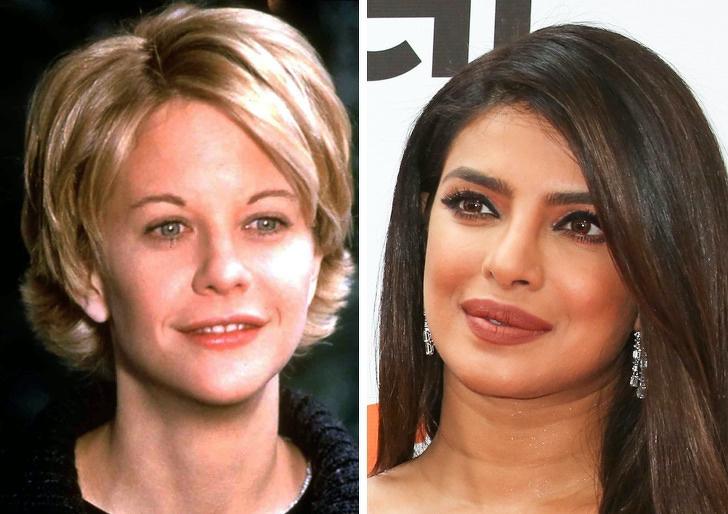 Comparación de belleza entre Meg Ryan y Priyanka Chopra