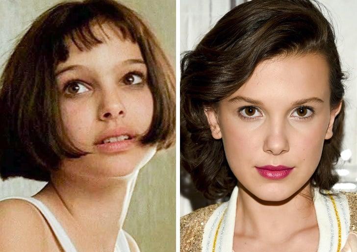 Comparación de belleza entre Natalie Portman y Millie Bobby brown