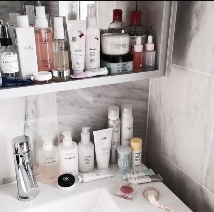 Skin care en el el baño