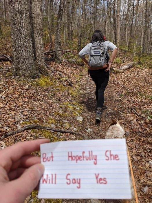 Chico pide matrimonio a su novia en la cima de una montaña