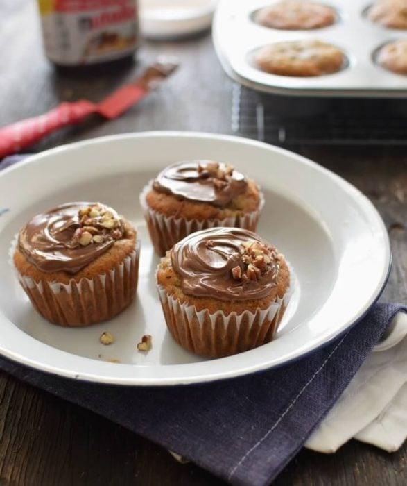 Cup cakes caseros con nutella casera