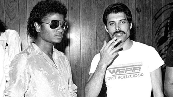 Freddie Mercury junto a Michael Jackson