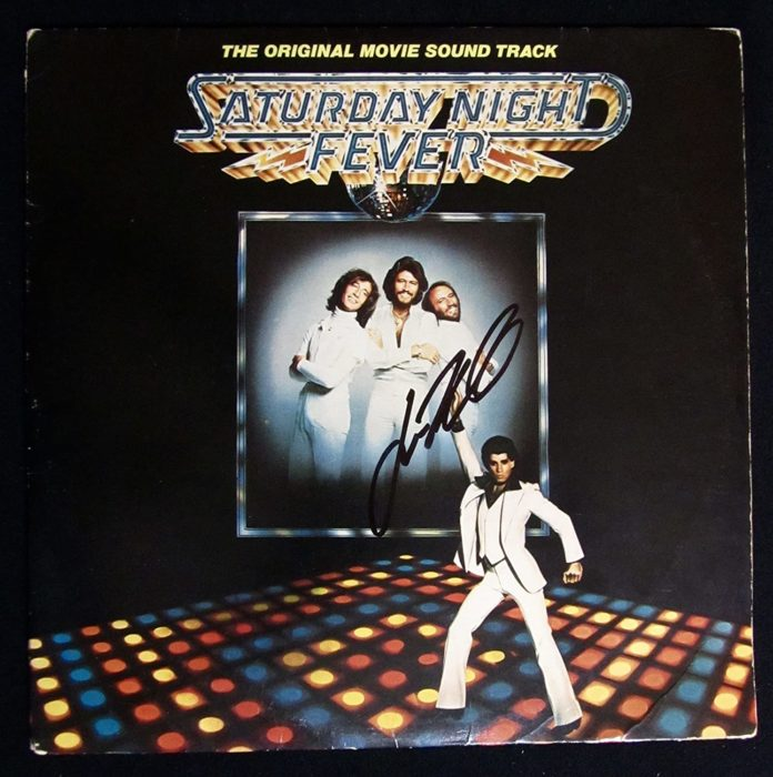 Portada del disco Saturday Night Fever de Bee Gees