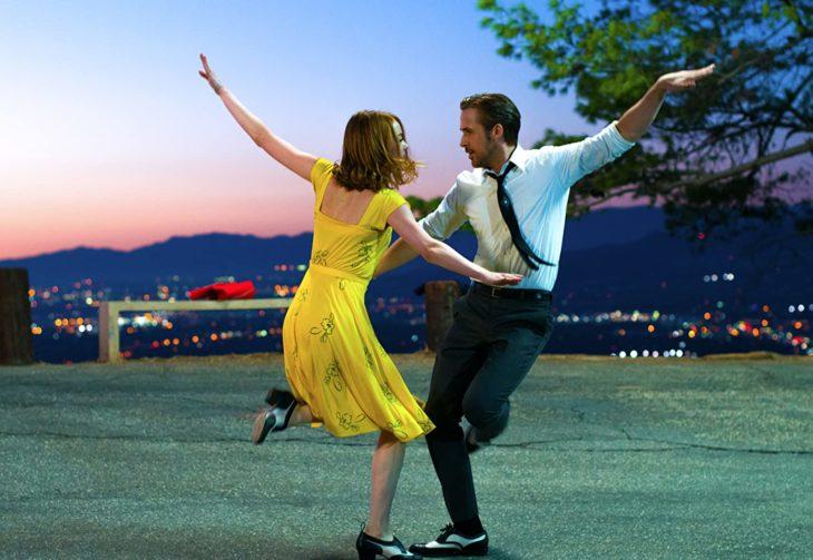 Escena de la película La la land en la que participan Emma Stone y Ryan Gosling