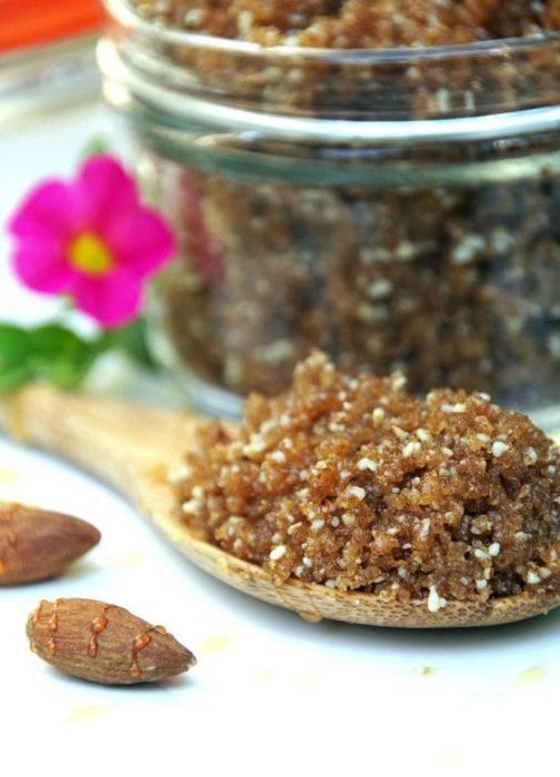Exfoliante de almendras y miel