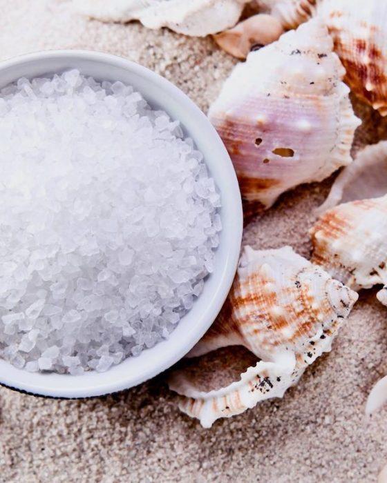 Exfoliante de sal de mar con lavanda