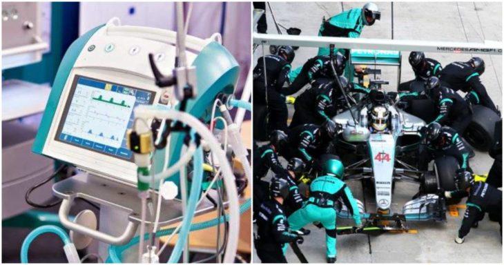 Ingenieros de F1 ayudan en la creación de respiradores para pacientes con Covid-19