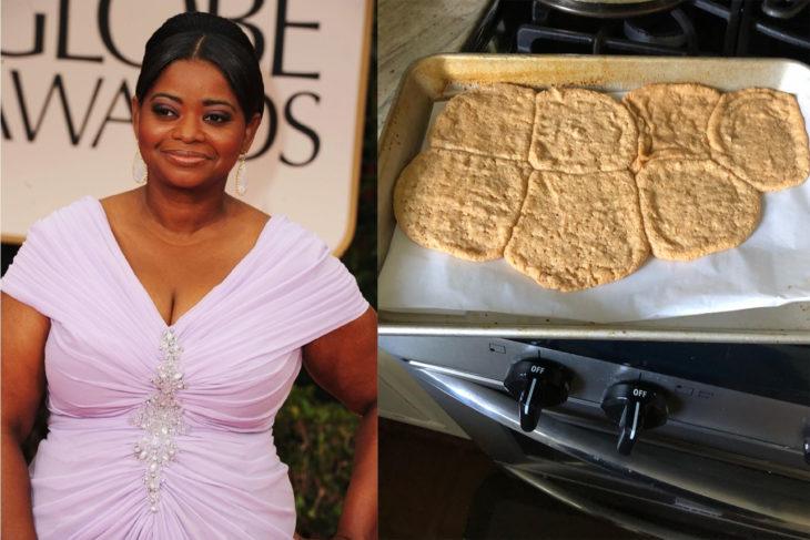 Octavia Spencer cocinando galletas