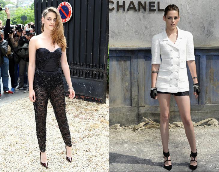 Kristen Stewart posando de la misma manera en las alfombras rojas