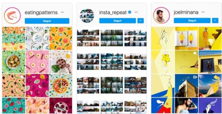 Diferentes tipos de feeds de Instagram