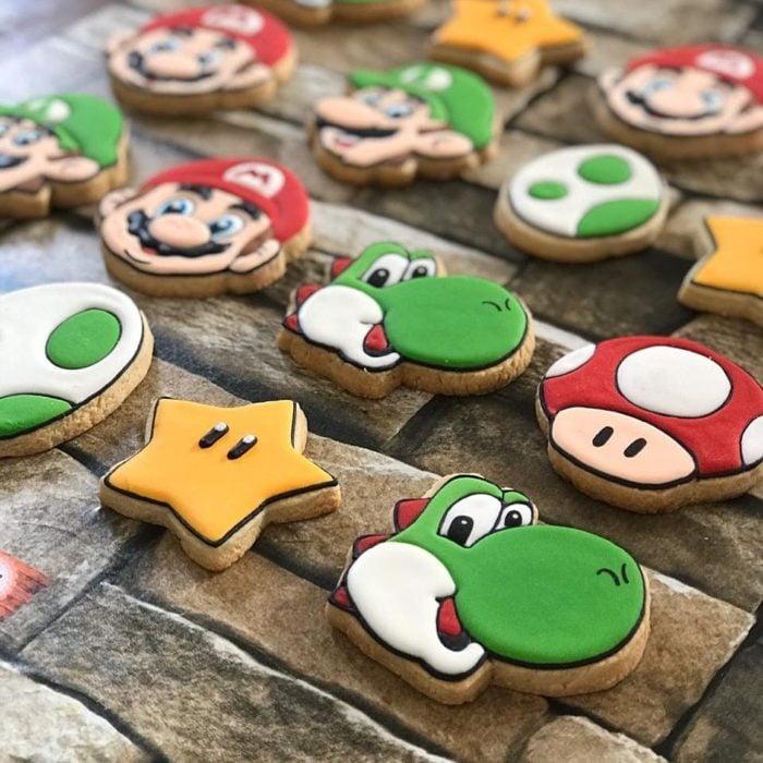 Galletas para festejar el día del niño de Mario Bros