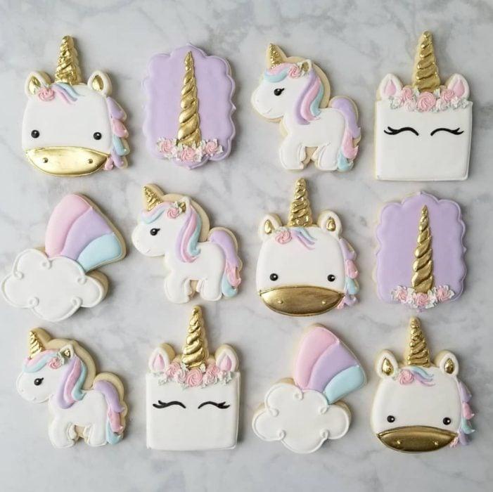 Galletas para festejar el día del niño de unicornios