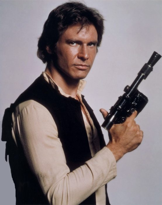 Han Solo de las películas de Guerra de las galaxias