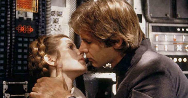 Escena de la película Star Wars en la que participan Harrison Ford y Carrie Fisher