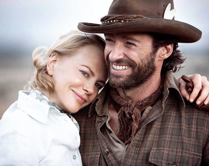 Escena de la película Australia en la que participan Hugh Jackman y Nicole Kidman