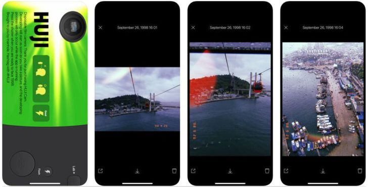 Huji Cam application for editing stories on Instagram
