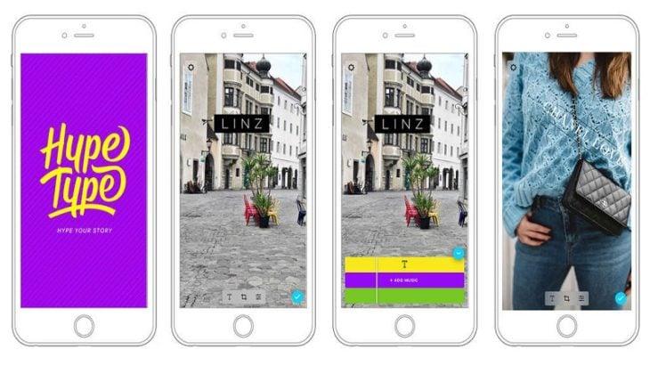 Hype Type aplicación para edición de stories en Instagram
