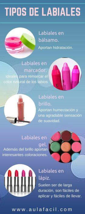Infografía sobre tipos de labiales
