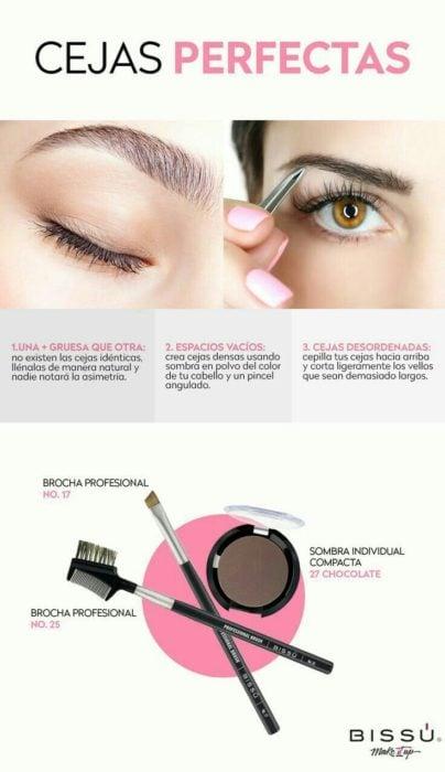 Infografía para unas cejas perfectas