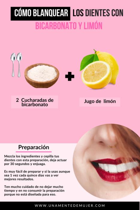 Infografía sobre blaquear los dientes