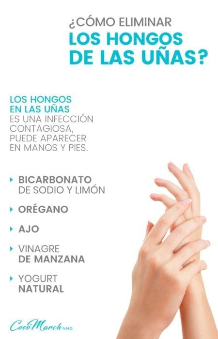Infografía para eliminar los hongos de las uñas