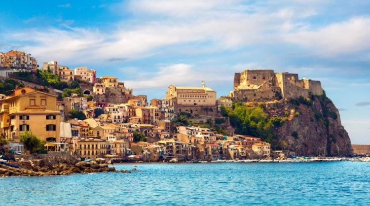 Sicilia Iatlia vista desde un mirador alto
