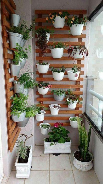 Jardín vertical interior hecho con plantas
